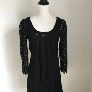 DVF black lace dress, size 4